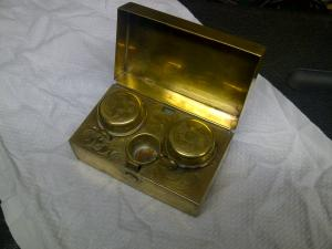 image of gold Ladies' Ink Well, from above