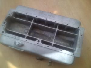 Repaired 1930s MG Aluminium Sump Inside